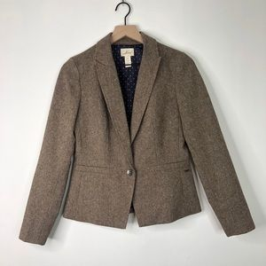 Levi's Brown Wool Blend Single Breasted Blazer